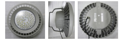 軽量 防水電源外付け 丸型LED投光器